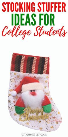gift for college students Stocking Stuffer Ideas for College Students Best Christmas Gifts, Christmas Fun, Best Gifts, Holiday Gifts, Xmas, College Student Gifts, College Students, Kids Stockings, Stocking Stuffers For Kids