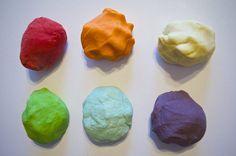 DIY Edible Homemade Play Dough Recipe with Koolaid- Rainbow Colors