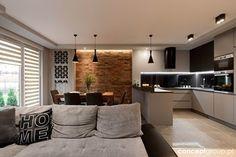 Dom w Rudzie Śląskiej - Realizacja - Mała otwarta wąska kuchnia w kształcie litery g w aneksie, styl nowoczesny - zdjęcie od Conceptgroup