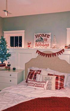Diy Holiday Room Decor - Diy Holiday Room Decor, A Cozy Cheerful Farmhouse Christmas Bedroom