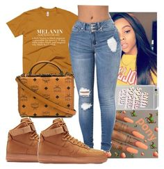 """""""Untitled #86"""" by cailindwilliams ❤ liked on Polyvore featuring MCM and NIKE"""