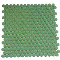 Green Porcelain Penny Round Mojito ModDotz