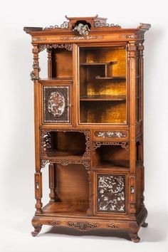 Gabriel VIARDOT (Paris, 1830 - Paris, 1906) VITRINE en bois exotique