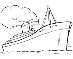 titanic coloring pages steamliner