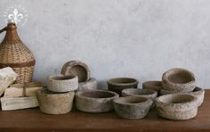 Antique marble bowls  Eloquence, Inc.