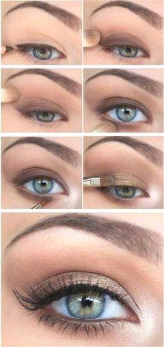 Smokey eye makeup tutorial for beginners. #makeup #tutorial