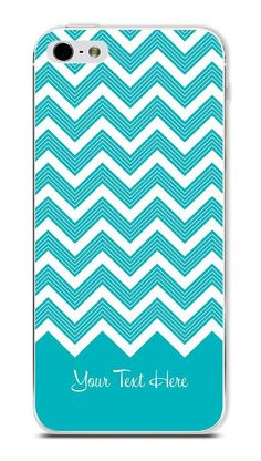 Blue Chevron Personalized Case for iPhone 5