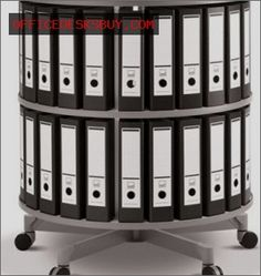 Spin N File Two Tier Rotary Binder Storage Carousel - http://officedesksbuy.com/spin-n-file-two-tier-rotary-binder-storage-carousel.html