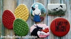Game of Thrones dragon cookies