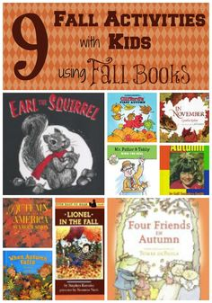 9 Fall Activities for Kids with 9 Fall Books  from HowToHomeschoolMyChild.com