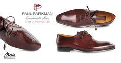 Paul Parkman Brown Bordeaux Handmade Oxfords feature a brown & bordeaux hand-painted leather upper, black & purple hand-painted double leather sole.