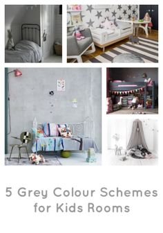 Grey has been having a bit of an extended interiors moment for the last few years, its soft tones are so much more interesting than other neutrals.   Whether you use grey as a base colour or an accent colour, it creates a space that looks modern and chic.   Just look at these lovely examples of kids' spaces created with the use of greys over on the blog http://kidsroomstylefile.com/2014/06/01/grey-kids-room-colour-schemes/