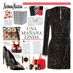 """""""The Holiday Wish List With Neiman Marcus: Contest Entry"""" by diesnatalis ❤ liked on Polyvore featuring Giuseppe Zanotti, Balmain, Iphoria, Jonathan Adler, Neiman Marcus, Yves Saint Laurent, Casetify, BaubleBar, Style & Co. and Lila Grace"""