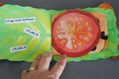 An artistic sandwich! Great for adjectives and procedural writing.