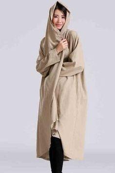 Loose Long Linen Wind Coat