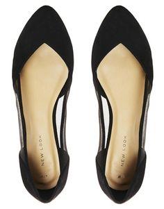 New Look – Jade – Flacher Schuh mit Netz-Einsatz - 22,46 €
