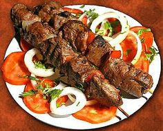 How to make Shish Kebab. Step by step instructions to make Shish Kebab . Paleo Diet Food List, Dukan Diet Recipes, Healthy Recipes, Healthy Oils, Diet Menu, Diet Foods, Meat Diet, Fast Recipes, Summer Recipes