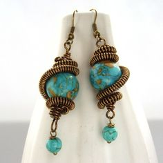 Bead and wire earrings £15.00