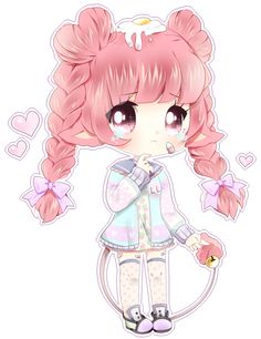 commissions open!  commission for Yoons @ gaia of another one of their avatar's! u//7//u so much pink spam OTL/// <333