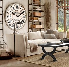 Wall clocks become the stand out, centre piece or focal point for a room by using an oversized or ornate wall clock.