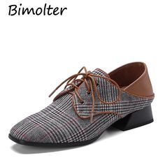 07b12bd366 US $41.43 35% OFF|Aliexpress.com : Buy Bimolter Women Genuine Leather  Oxfords British Style Flats Pointed Toe Classic Lace Up Lady's Brogue Shoes  Spring ...