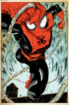 The Superior Spider-man Issue 1 Sketch - Ryan Stegman Comic Book Characters, Comic Book Heroes, Marvel Characters, Comic Character, Comic Books Art, Comic Art, Book Art, Marvel Comics, Heros Comics