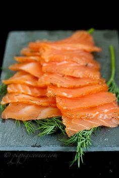 gravlax (so easy to make, so cheap, and super delicious) Salmon Recipes, Fish Recipes, Seafood Recipes, Cooking Recipes, Healthy Recipes, Fish Dishes, Seafood Dishes, Fish And Seafood, Food Photography