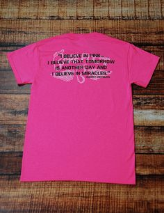 0748bd8d Help us raise awareness for Breast Cancer with this awesome PINK shirt.  October is PINK