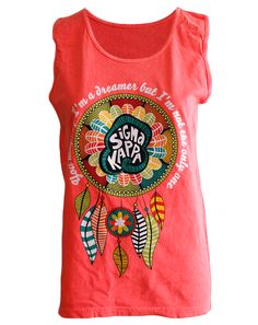 Sigma Kappa Dreamcatcher Tank by Adam Block Design | Custom Greek Apparel & Sorority Clothes | www.adamblockdesign.com