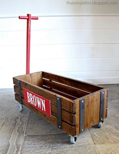 Build: diy wagon It's Friday and time for another Handmade Holiday gift build from Ana White and me! Today we are sharing the plans for this wagon. Multiple readers requested wagon plans during last year's Handmade Holiday series and we aim to please! Inspired by Restoration Hardware's Industrial Wooden Wagon Storage: image source You can... Read more