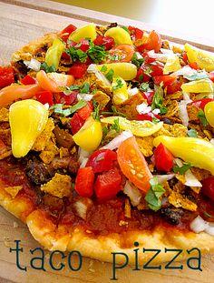 Black Bean Taco Pizza – a taste of nostalgia | Cadry's Kitchen