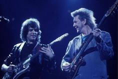 Photo of Trevor RABIN and Chris SQUIRE and YES; Trevor Rabin and Chris Squire performing live onstage Get premium, high resolution news photos at Getty Images Music Pics, My Music, Chris Squire, Yes Band, Great Bands, Rock Music, Rock And Roll, Conversation, Interview