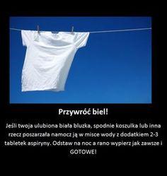 Przywróć intensywną biel swoim ubraniom! Life Hacks, Advice, Personal Care, Cleaning, Film, Diet, Household, Movie, Self Care