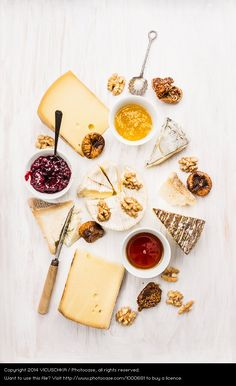 cheese plate with nuts and fig mustard