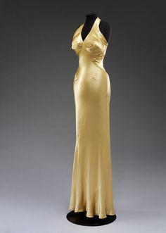 1934 Evening dress; Satin