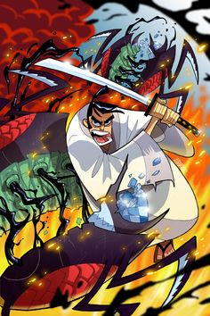 Samurai Jack #1 retailer-exclusive covers: Bryan Turner (Awesome Con)