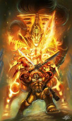 40k - Commander Dante of the Blood Angels vs Eldar Avatar