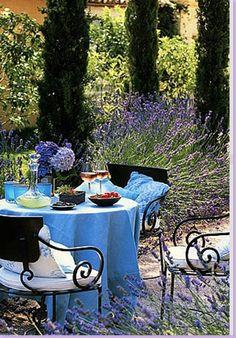 Al Fresco Dining in Provence, France Outdoor Rooms, Outdoor Dining, Outdoor Gardens, Outdoor Decor, Outdoor Furniture, Pergola, Garden Yard Ideas, Garden Nook, French Countryside