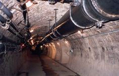 Tunnel with other utility pipes. Source: Ed Curley, Pima County Wastewater Management Department, Tucson, Arizona.