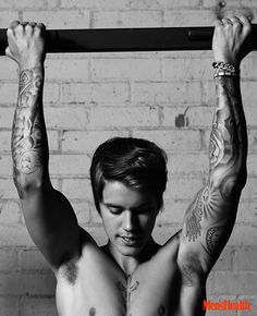 Justin Bieber Goes Shirtless for Mens Health April 2015 Cover Shoot, Talks Maturing + Hitting the Gym