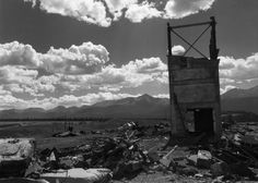 (Leadville. Abandoned silver mine strewn with wrecked and twisted structures in Colorado)