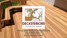 Brett the owner of Decksteriors, talks about his business as a deck and fence refinisher. Rather than replacing your old worn out deck, If youre . Garden Shop, Home And Garden, Denver City, Front Range, Cool Deck, Restoration Services, Lawn Care, Fence, Real Estate