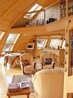 Intérieur salon / mezzanine un peu plus moderne (à proscrire)