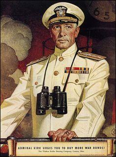 Joseph Christian Leyendecker (March 23, 1874 – July 25, 1951) - Admiral Kirk