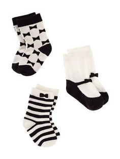 f21076a4ba5 layette three-pack socks by kate spade new york Twin Baby Girls