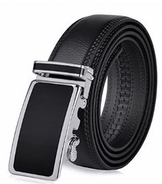 Vbiger Mens Leather Belt Sliding Buckle Ratchet Dress Belt Wide 1 - B Best Leather Belt, Leather Belts, Leather Men, Black Leather, Sock Suspenders, Grip Socks, Tactical Belt, Great Gifts For Men, Branded Belts