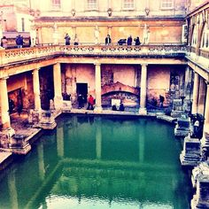 The Roman Baths in Bath, Bath and North East Somerset