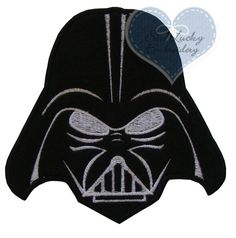 Darth Vader embroidered patch by SewLuckyEmbroidery3 on Etsy, $4.99