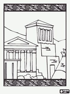 18 Best Coloring Pages/LineArt Ancient Greek City States