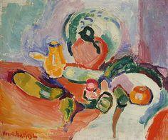 still life with vegetables - 1905-6, henri matisse